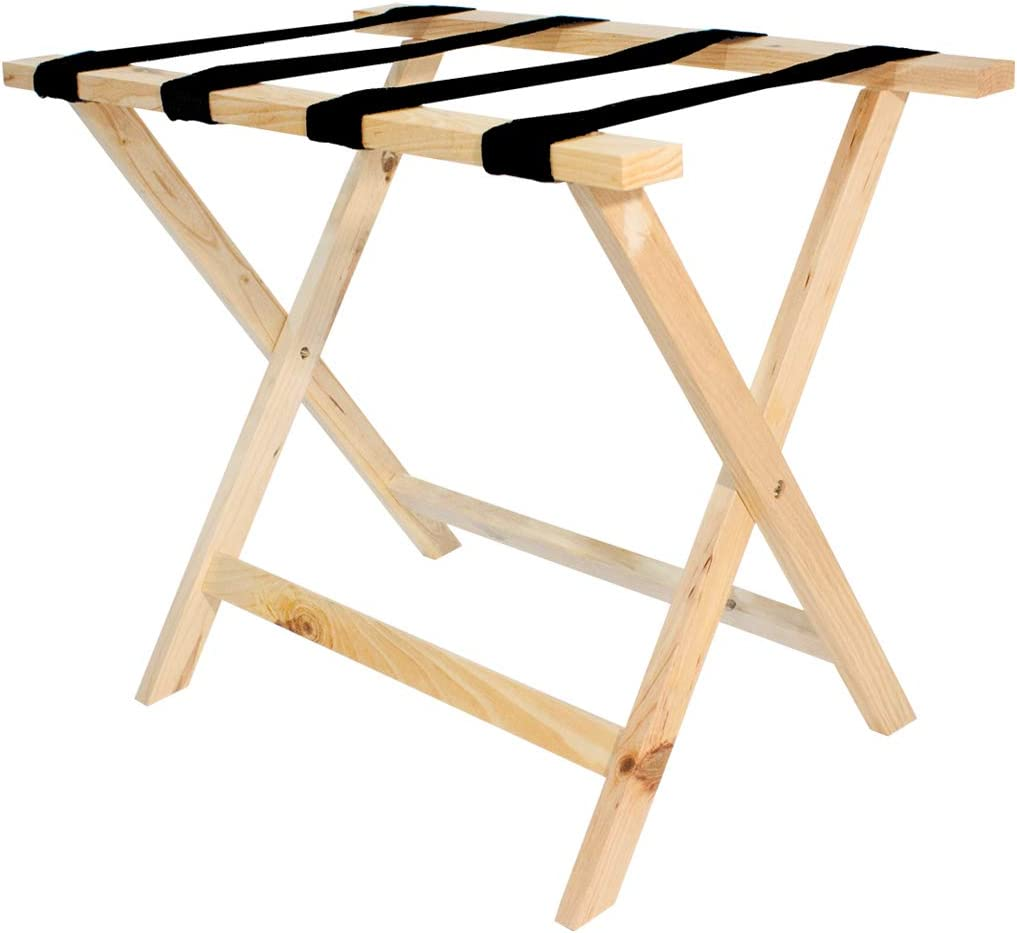 Wholesale Hotel Products Premium Wooden Luggage Racks (Natural)