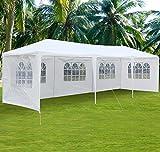 10x30 carport - go2buy 30'X10' White Heavy Duty PE Water Resistant Party Wedding Tent Carport Canopy Tents