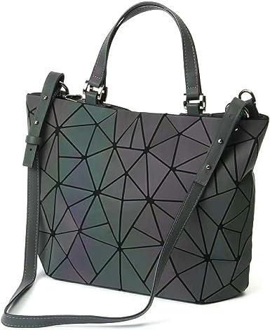 Matte Geometry Women Bags Ladies Handbags Folding Shoulder Bag Female Tote Purse