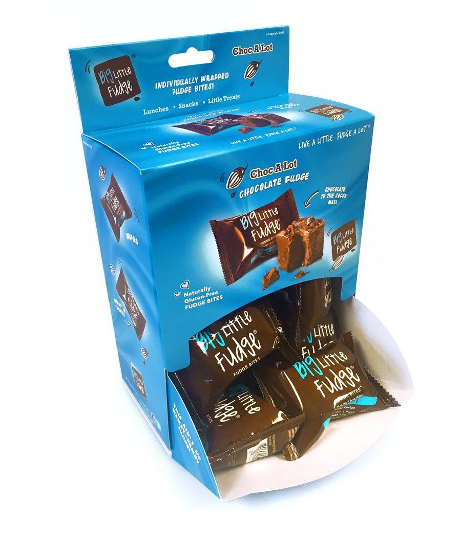 Big Little Fudge - Choc A Lot - Chocolate Fudge - 12 Individually Wrapped 1.6 Ounce Fudge Bites by Big Little Fudge