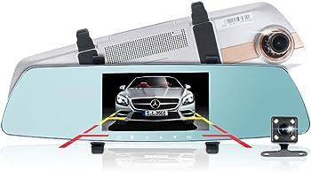 Pushidun 1080p Full HD A10 DVR Dual Car Dash Camera