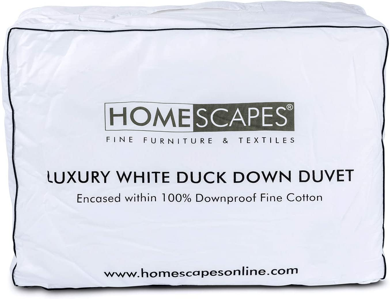 Homescapes 100/% Cotton Anti Dust Mite /& Down Proof Cover 13.5 Tog Washable at Home Range Luxury New White Duck Feather /& Down Duvet Box Baffle Construction Single Anti Allergen