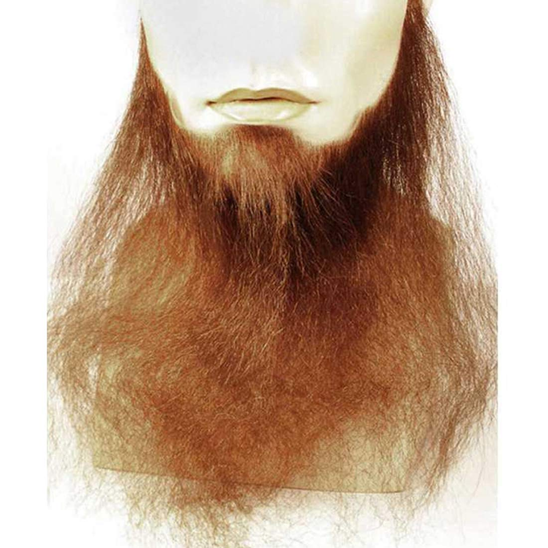 16'' Long Full Face Beard Color Strawberry Blonde - Lacey Wigs Human Hair Duck Dynasty Hand Made Fake Facial Biker Amish Bundle Costume Wig Care Guide by Lacey Morris
