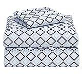 Campus Linens Blue Lennox 3 Piece Twin XL Sheet Set for College Dorm Bedding