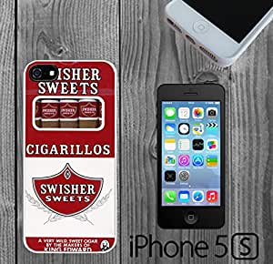 Cigarillos Swisher Custom made Case/Cover/skin FOR iPhone 5/5s - White - Rubber Case ( Ship From CA)