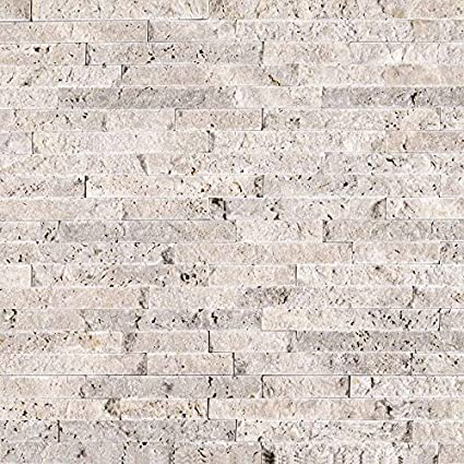 Msi Stone Smot Siltra Sf10mm Silver Travertine Pattern Tile With