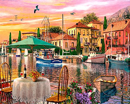 Vermont Christmas Company Sunset Harbour Jigsaw Puzzle 1000 Piece