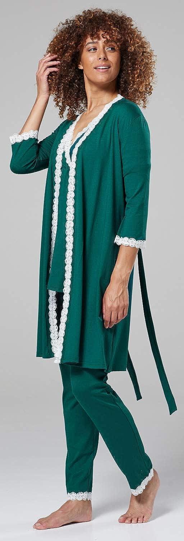 HAPPY MAMA Femme Maternit/é Imprim/é Pyjama Rrobe Chambre Sol S/épar/ément 1123