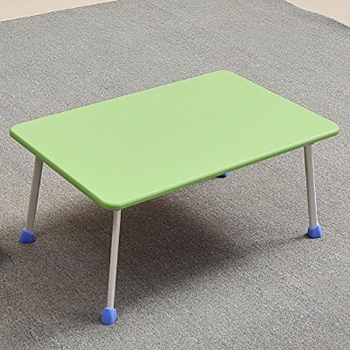 KSUNGB Laptop desk Bed Writing desk Small table Multifunction Foldable Dorm room Lazy People Desk Horseshoe-shaped Table legs, green by KSUNGB