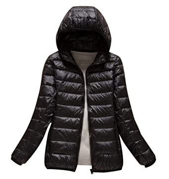Isshe Womens Down Puffa Jacket With Hood Women Ladies Winter Hooded