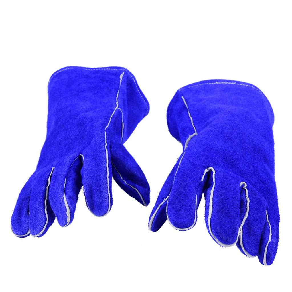 BLRYP Gloves Leather Work Gloves Thorn Proof Gardening Gloves, Heavy Duty Gloves for Gardening, Fishing, Construction and Restoration Work & More Low Temperature Work