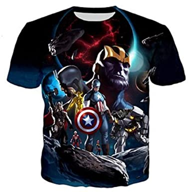 8959bbebba03 PAPWOO Justice League Shirt Avenger Marvel Guardians of Galaxy Superhero  Movie 3D T-Shirts for