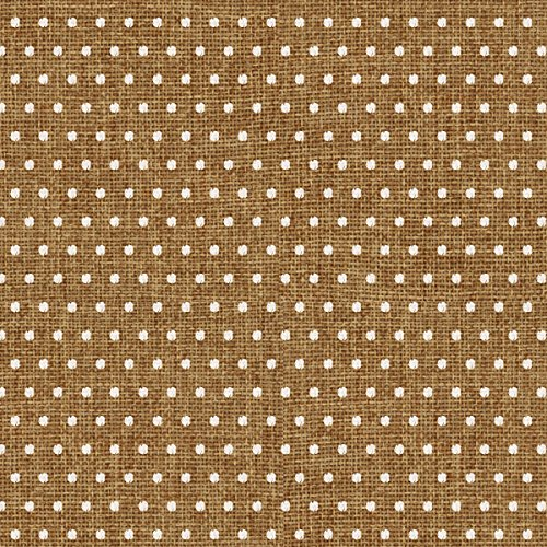 "American Crafts Homemade Burlap Dot Cardstock, 12"" by 12"", White"