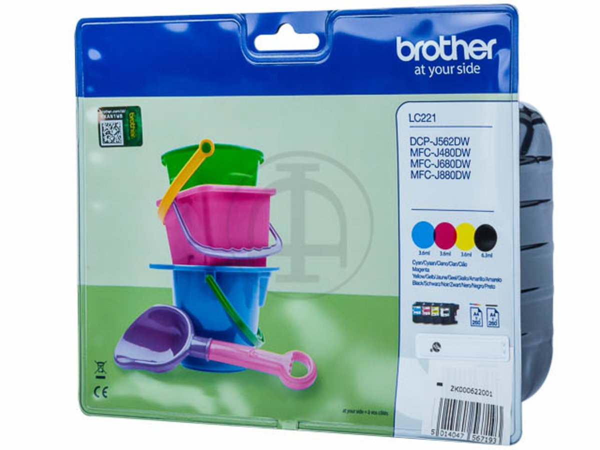 Brother Original - Brother MFC-J 480 DW (LC-221 VAL BPDR): Amazon ...