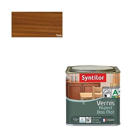 Syntilor - Vernis Aspect Bois Teck Mat 0,75L