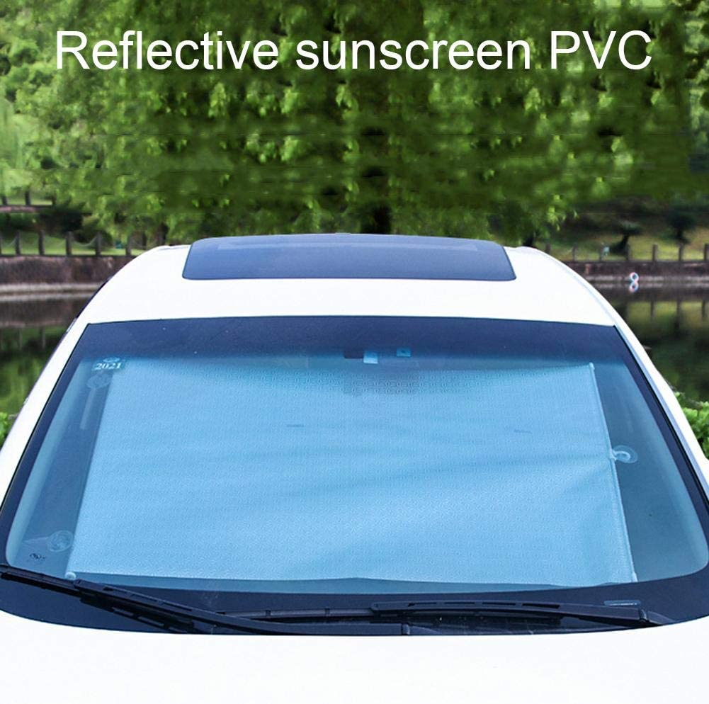 Sch/ützt Vor Hitze Und Sonnenstrahlen -45X125//50X125CM UV-Schutz,PVC Sonnenblende Auto Sonnenblende Frontscheibe Innen Automatische Einziehbare,Sonnenschutz F/ür Auto Windschutzscheibe