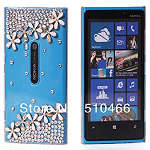 ModernGut Fashion crystal Luxury DIY 3D Bling Diamond Pearl Rhinestone Hard Back Cover + Screen For Nokia Lumia 9