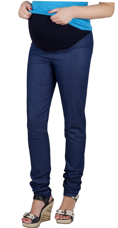 Mija - Maternity Trousers / Slim Jeans Denim over bump 3015
