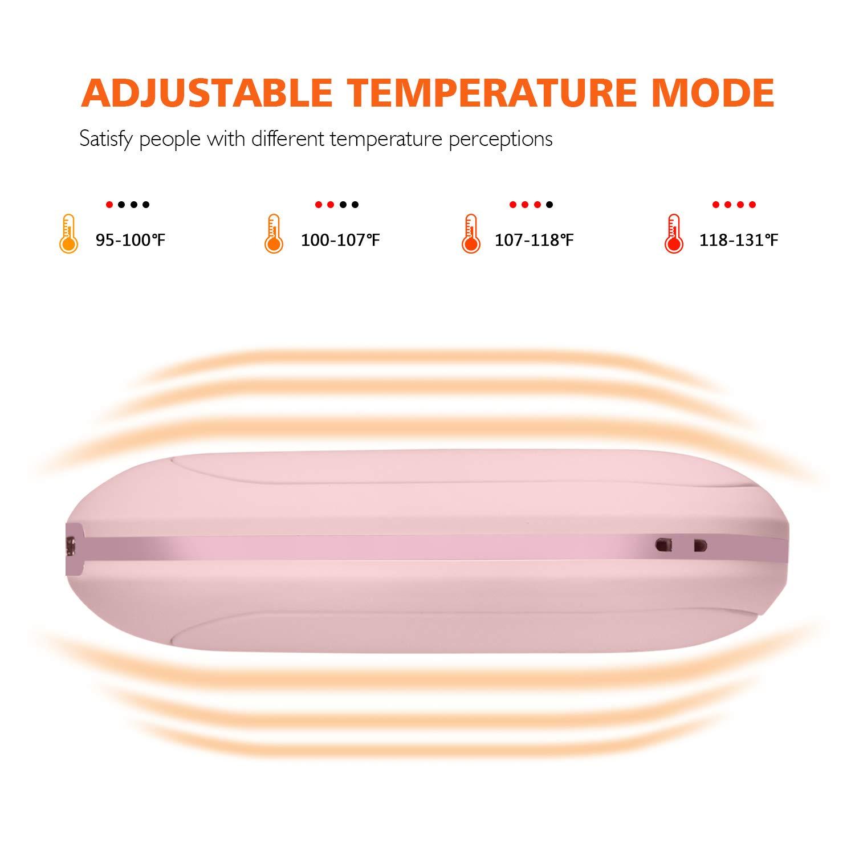 AOOKEY Calentador de Manos USB Recargable 5200mAh Powerbank Bater/ía Calentador de Manos Electrico,Calentadores de Manos Bolsillo USB,Calentador de Manos El/éctrico de Reutilizable