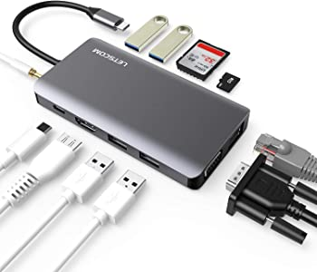 LETSCOM 11-in-1 USB C Hub with Ethernet, 4K HDMI, and more
