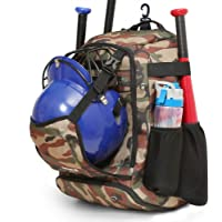 ZOEA Baseball Bat Bag Backpack, T-Ball & Softball Equipment & Gear for Youth and Adults, Large Capacity Holds 4 Bats…