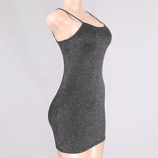 🌹 Vestido de mujer, ♡Xinantime♡ Vestido sexy de mujer Vestido sin mangas con cintura ajustable Vestido de fiesta de noche del vendaje: Amazon.es: Ropa y ...