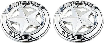 1x OEM TEXAS EDITION Star Emblem 3D Bagde For JEEP Dodge Chevrolet Matte Black