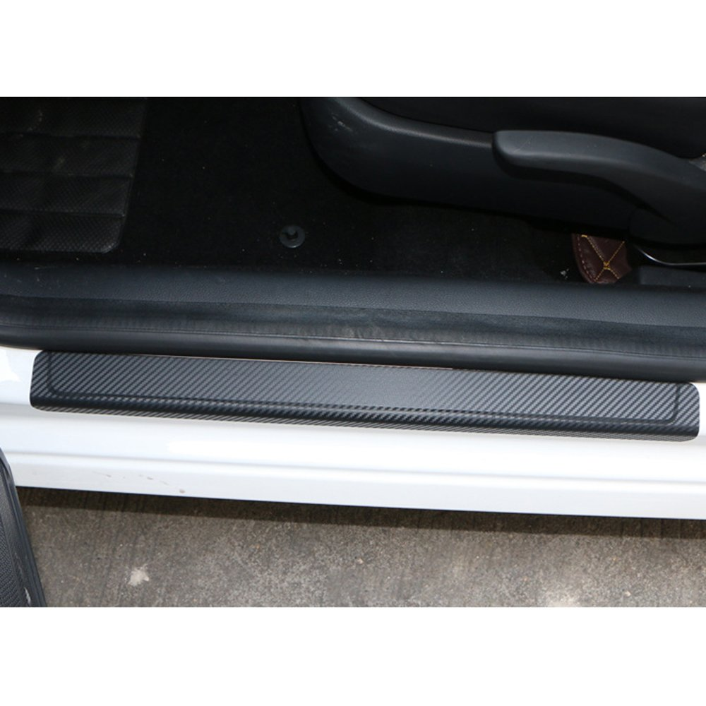Car Accessories Door Sill Scuff Welcome Pedal Protect Carbon Fiber Sticker,4PCs HIYAZONE