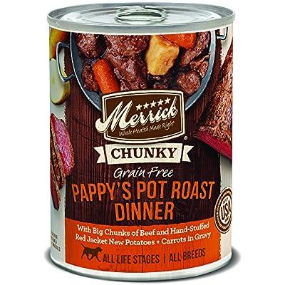 Merrick Chunky Grain Free Pappy's Pot Roast Dinner Wet Dog Food