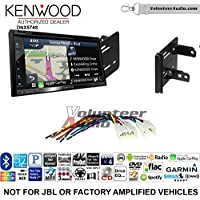 Volunteer Audio Kenwood DNX574S Double Din Radio Install Kit with GPS Navigation Apple CarPlay Android Auto Fits 2012-2014 Non Amplified Toyota Yaris