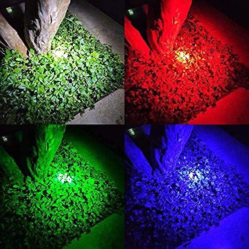 Lampe Torche 4 Couleurs en 1 WESLITE Lampe de poche Multicolore Rechargeable avec Lumi/ère Rouge Vert Blanc Bleu Ext/érieures RGBW Lampe de Signal Zoomable pour Vision Nocturne Caming Randonn/ée P/êche