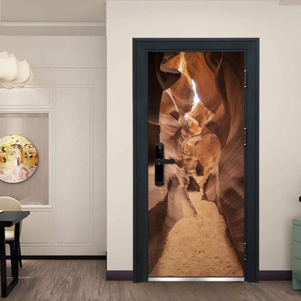 DNFurniture Grotte /étroite Vision d/écalcomanies peintures murales Illustrations Art europ/éen Autocollant paysages tridimensionnel Maison PVC Autocollants muraux 77X200CM