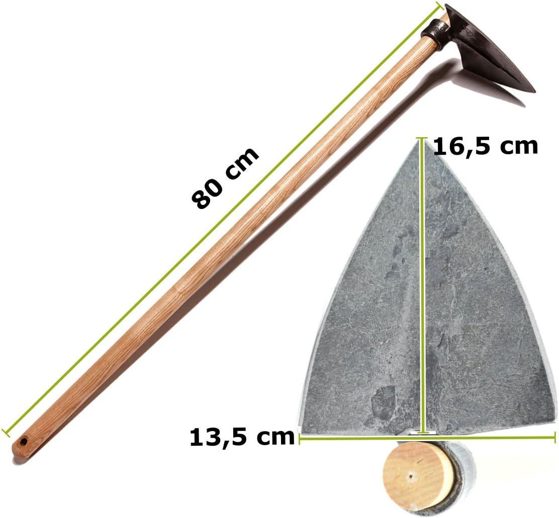 Mittlere Chelsea-Hacke//Gartenhacke//Gartenhaue mit Eschenholzstiel Gewicht: 760 gr Stiell/änge: 80 cm Handgeschmiedet in Deutschland 4betterdays.com NATURlich leben