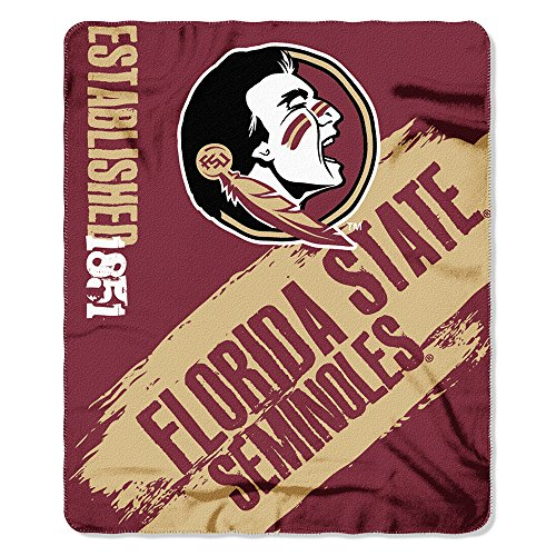 Florida State Bed (The Northwest Company 1COL/03102/0015/AMZ NCAA Florida State Seminoles Painted Printed Fleece Throw, 50