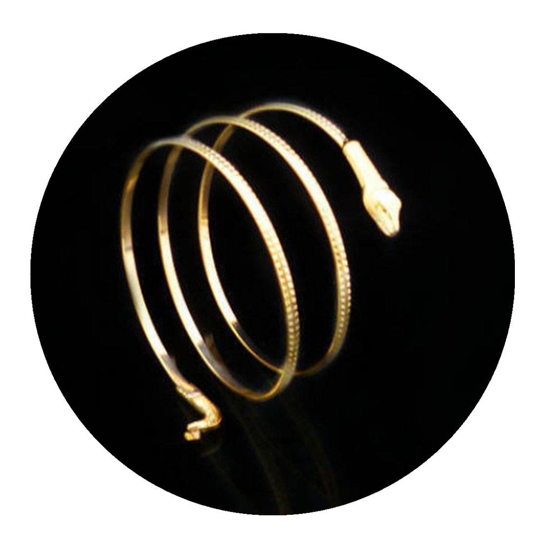 Molyveva Novelty Jewelry Fashion Egypt Swirl King of Snake Upper Arm Cuff Armlet Armband Bangle Bracelets Old Tree Store