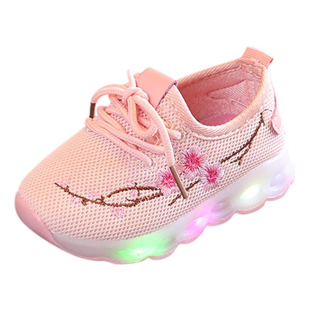 Iuhan Kids LED Sneaker 1-6Years Boys Girls Embroidery Sneakers Luminous Shoes Iuhan ®