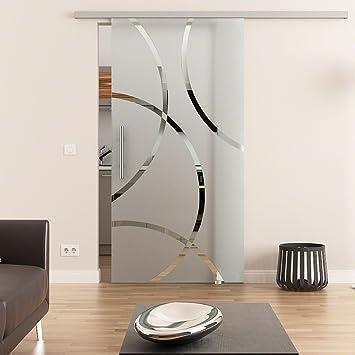 Dorint Diseño decorativo de cara Puerta Corredera de Cristal ...