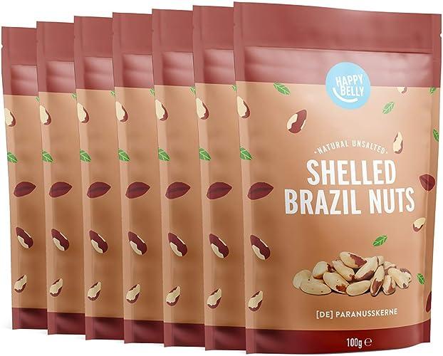 Noci del brasile happy belly noci del brasile sgusciate, 7 confezioni x 100g B082VSMTDC