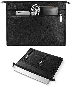 17.3 Inch Laptop Sleeve Case Water Repellent Premium Leather Felt Laptop Bag for 16 17.3 inch Acer Alienware 17 Dell Inspiron HP Pavilion Lenovo Ideapad HP Omen MSI GE75 Raider