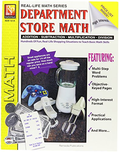 "Remedia Publications REM161A Department Store Math, Game Book, 8.2"" Wide, 11"" Length, 0.2"" Height (6 per Package)"