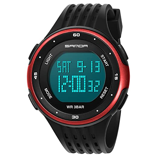 Reloj pantalla digital,Moda casual diseño de múltiples funciones al aire libre impermeable luminoso impermeable reloj electrónico-C: Amazon.es: Relojes