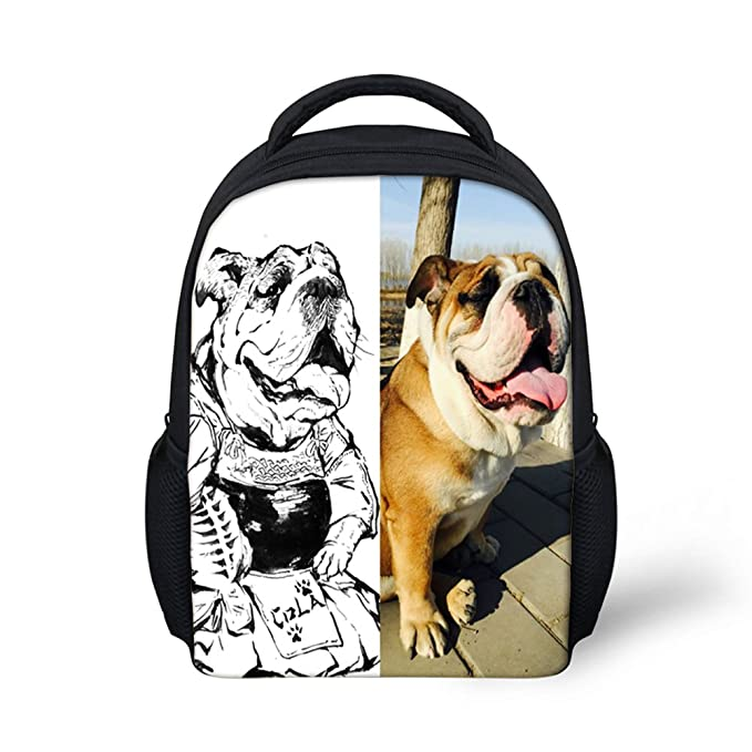 71ed84e855 Image Unavailable. Image not available for. Color  Amzbeauty Cute Backpack  for Toddlers Dog Print 12 Inch Small Shoulder Bag Daypack