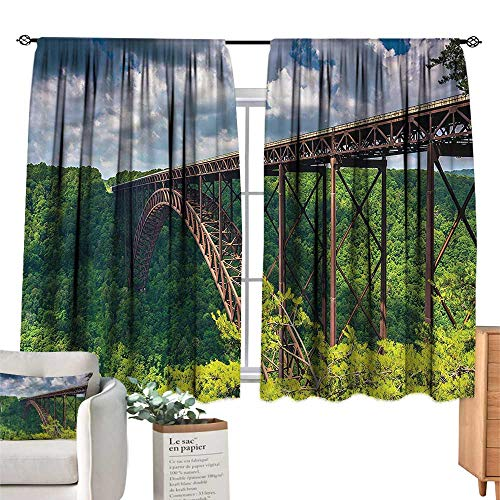 WinfreyDecor USA Decor Curtains Canyon Rim Visitor Center Photo Suitable for Bedroom Living Room Study, etc.55 Wx72 L