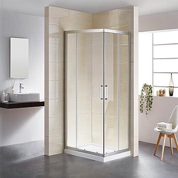 Puerta corredera de fácil montaje, montaje en esquina, cabina de ducha, estructura bien diseñada, impermeable, uso de por vida, entrega rápida: Amazon.es: Bricolaje y herramientas