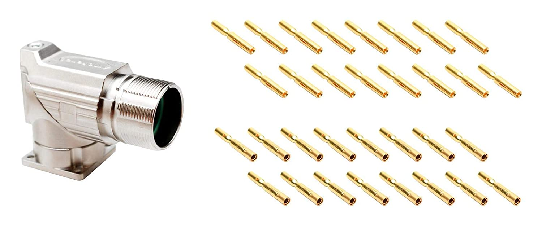 M23 AMPHENOL SINE//TUCHEL Panel MA5RAE1602S-KIT RCPT 16POS Sensor Conn