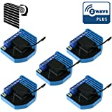 Pack de 5 módulos de persianas giratorias Z-Wave Plus empotrables – Qubino
