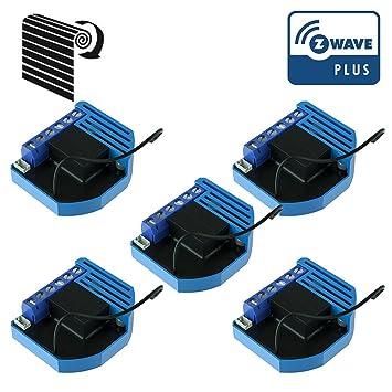 Pack De 5 Modules Volets Roulants Z Wave Plus Encastrables