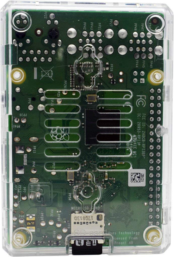 SB Components Raspberry Pi 3 Model B+ Transparent Case - Access to all ports by sb components (Image #4)