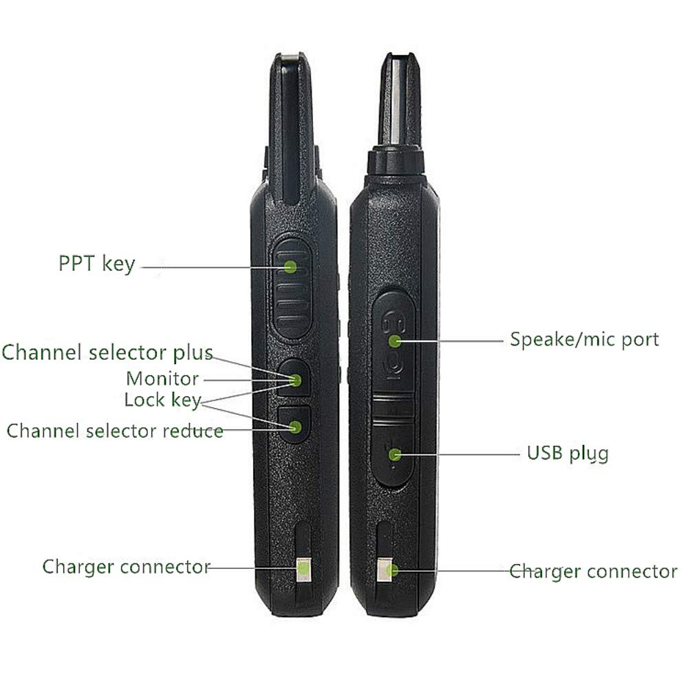 Xixou 1pc Wireless Portable Device WLN KD-C1 Small walkie-Talkie UHF400-470 MHz Communication walkie-Talkie Handheld CB HF Amateur Radio transceiver (1pc) by Xixou (Image #9)