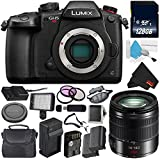 Panasonic Lumix DC-GH5S Mirrorless Micro Four Thirds Digital Camera International Version (No Warranty) + Panasonic Lumix G Vario 14-140mm f/3.5-5.6 ASPH + 128GB Class 10 Memory Card Bundle